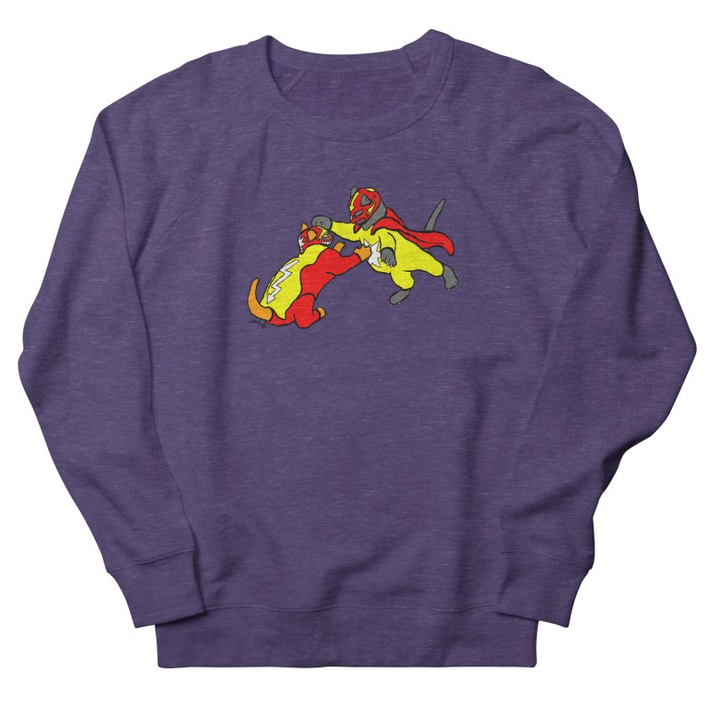 wrestle cats Women's French Terry Sweatshirt by mikbulp's Artist Shop
