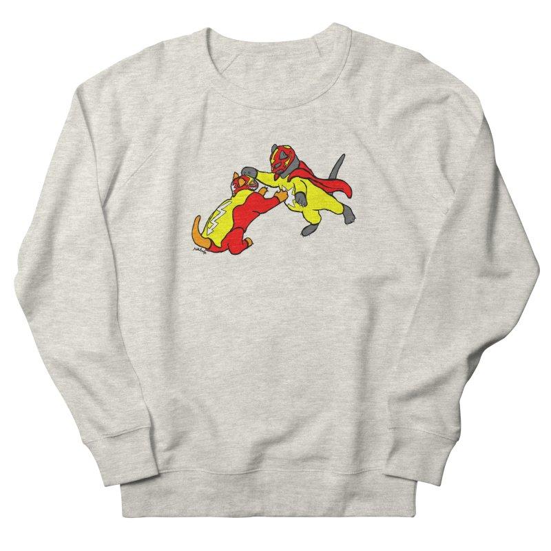wrestle cats Women's Sweatshirt by mikbulp's Artist Shop