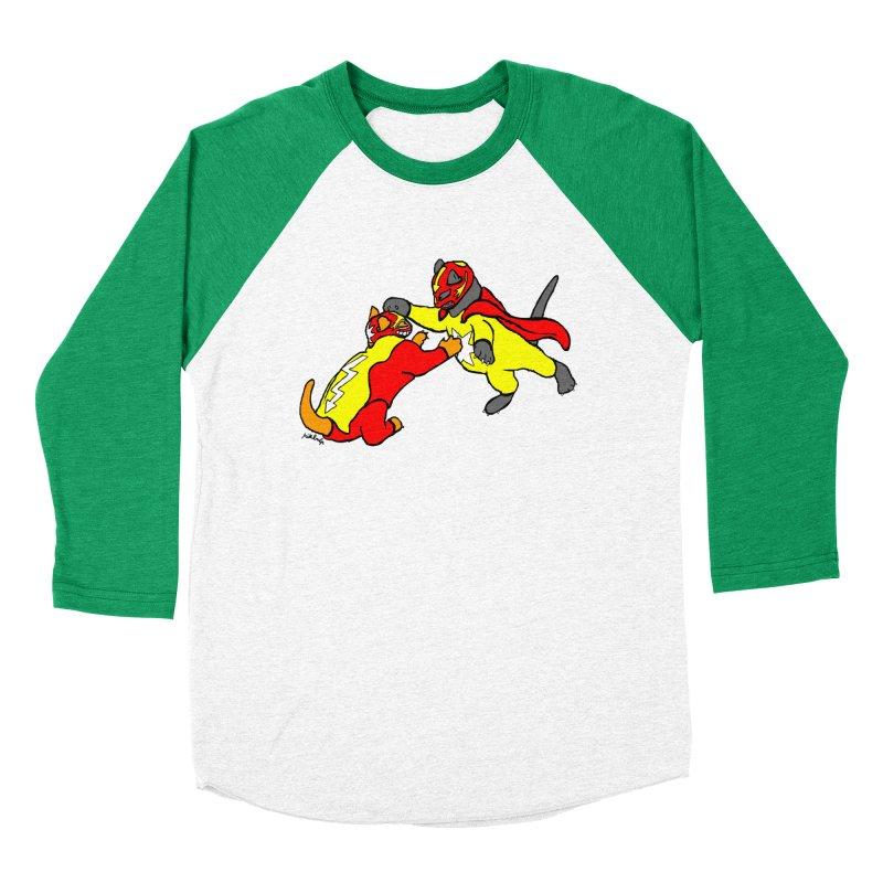 wrestle cats Women's Baseball Triblend Longsleeve T-Shirt by mikbulp's Artist Shop