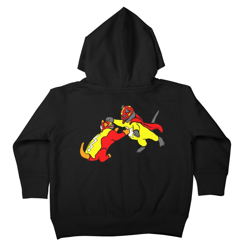 wrestle cats Kids Toddler Zip-Up Hoody by mikbulp's Artist Shop