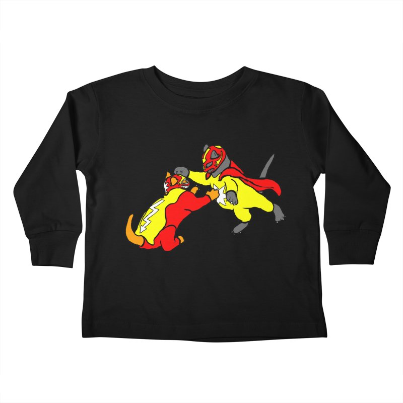 wrestle cats Kids Toddler Longsleeve T-Shirt by mikbulp's Artist Shop