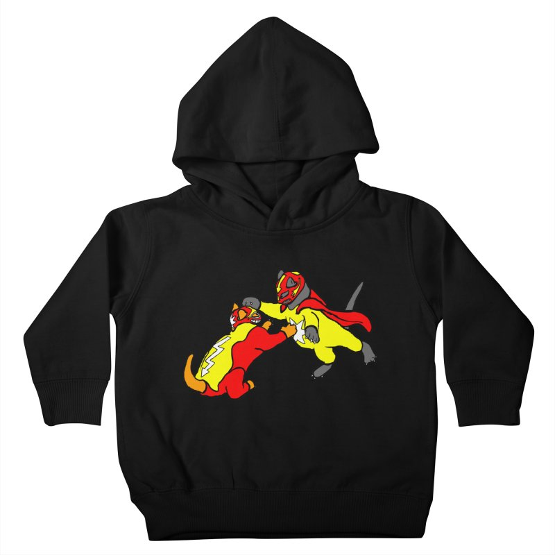 wrestle cats Kids Toddler Pullover Hoody by mikbulp's Artist Shop