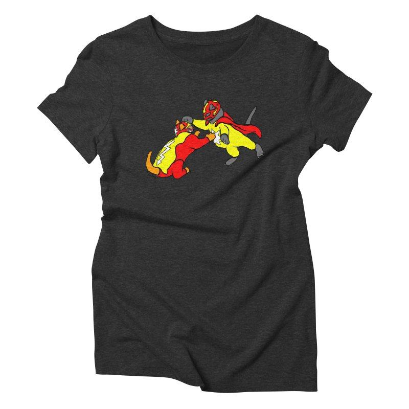 wrestle cats Women's Triblend T-Shirt by mikbulp's Artist Shop