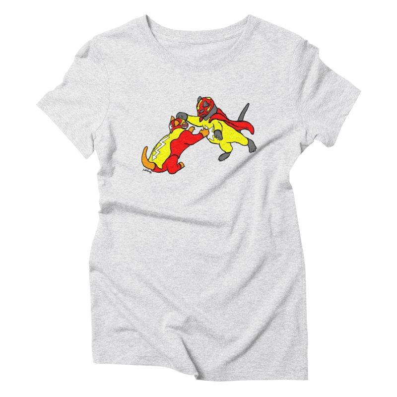 wrestle cats Women's T-Shirt by mikbulp's Artist Shop