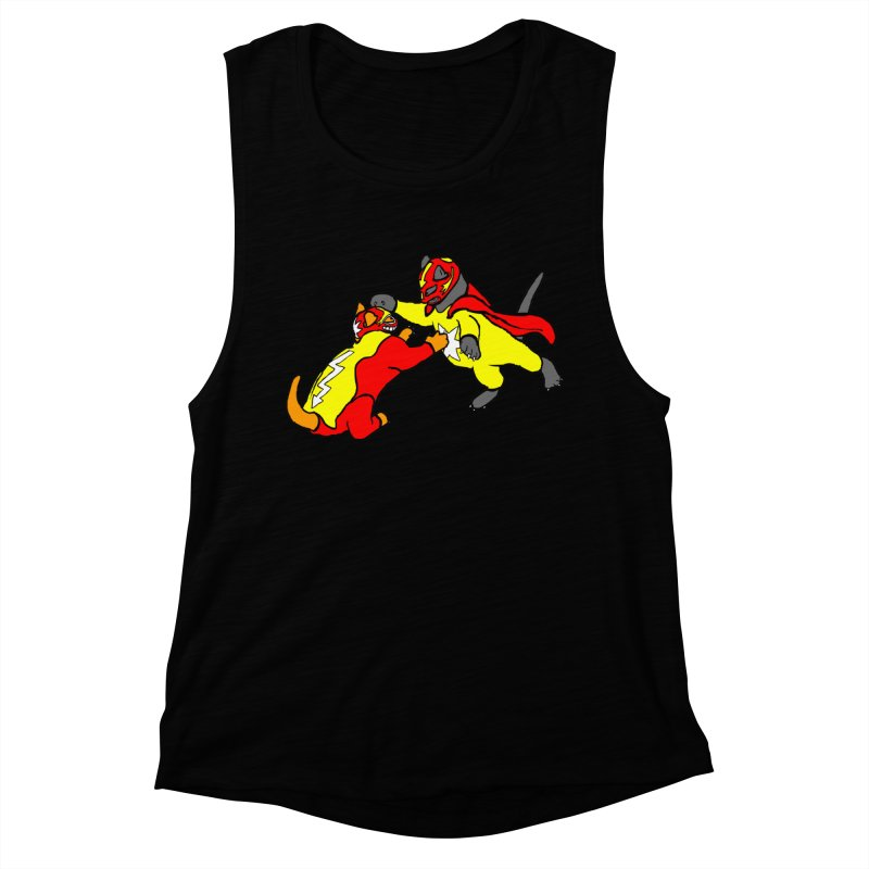 wrestle cats Women's Muscle Tank by mikbulp's Artist Shop