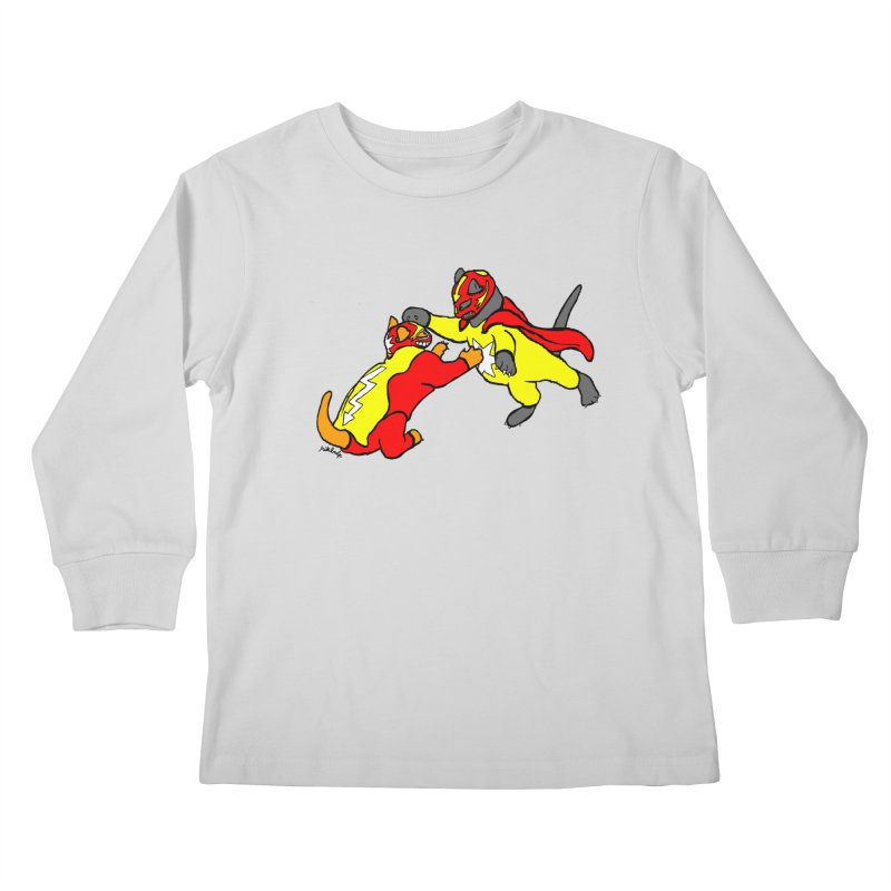 wrestle cats Kids Longsleeve T-Shirt by mikbulp's Artist Shop