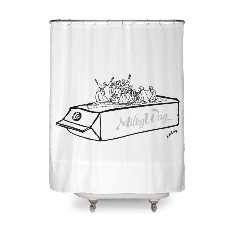 Milky Way Home Shower Curtain by mikbulp's Artist Shop