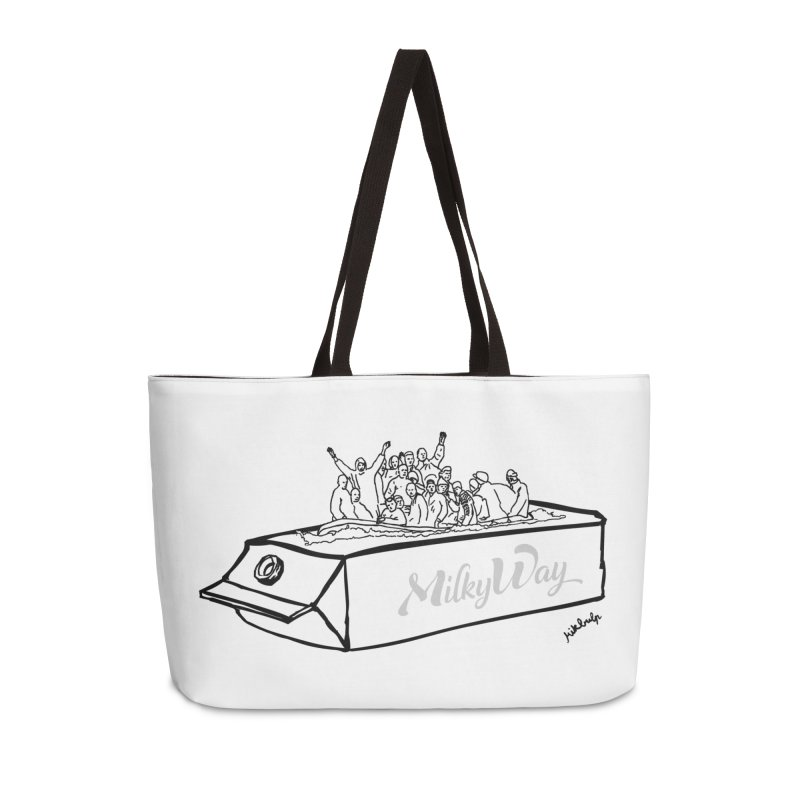 Milky Way Accessories Weekender Bag Bag by mikbulp's Artist Shop
