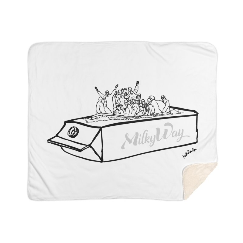Milky Way Home Sherpa Blanket Blanket by mikbulp's Artist Shop