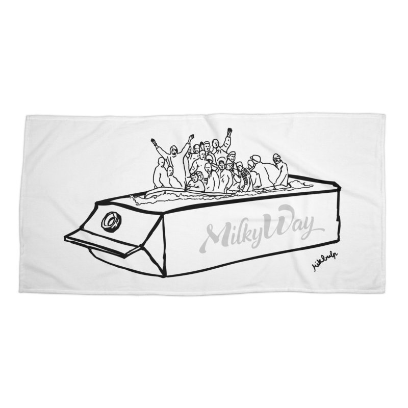 Milky Way Accessories Beach Towel by mikbulp's Artist Shop