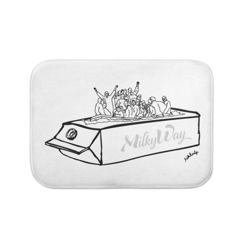 Milky Way Home Bath Mat by mikbulp's Artist Shop