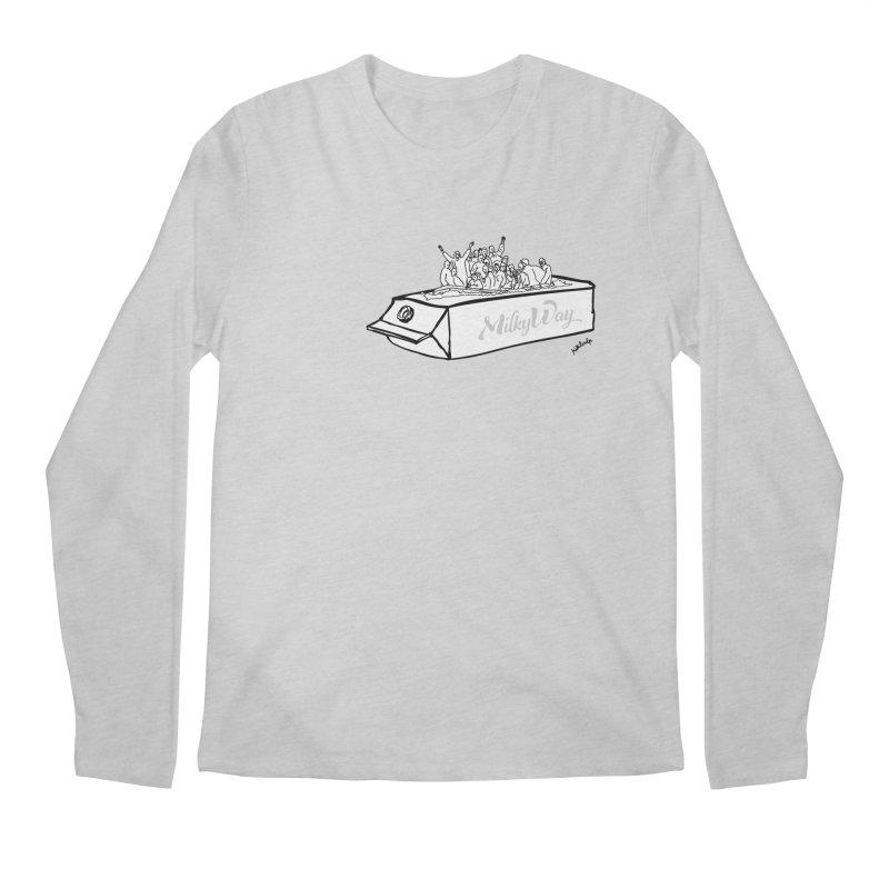 Milky Way Men's Regular Longsleeve T-Shirt by mikbulp's Artist Shop