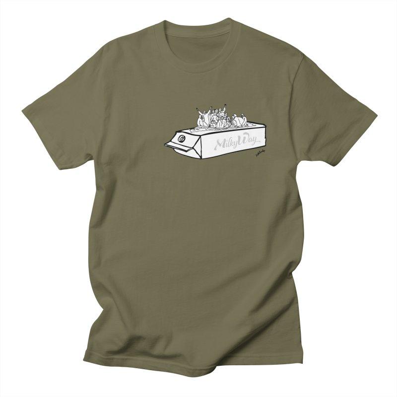 Milky Way Men's Regular T-Shirt by mikbulp's Artist Shop