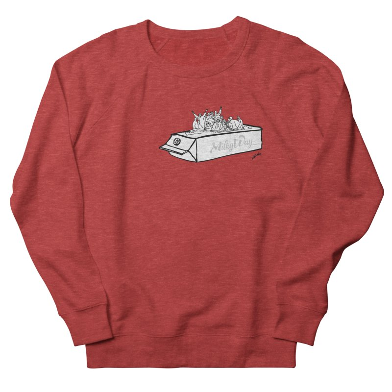 Milky Way Men's French Terry Sweatshirt by mikbulp's Artist Shop