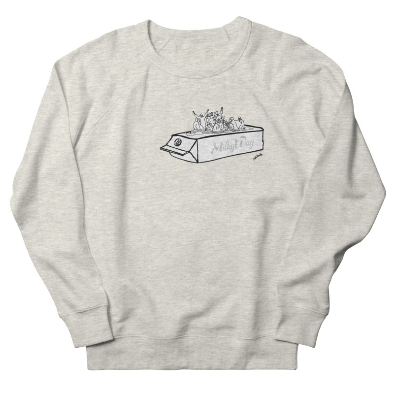 Milky Way Men's French Terry Sweatshirt by mikbulp's Artist Shop