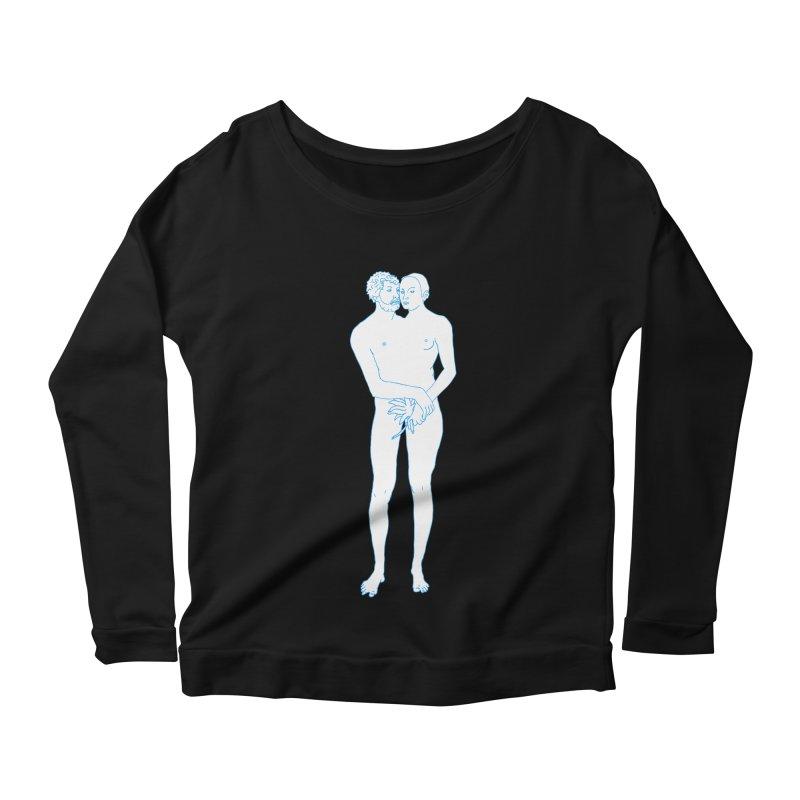 two in one Women's Scoop Neck Longsleeve T-Shirt by mikbulp's Artist Shop