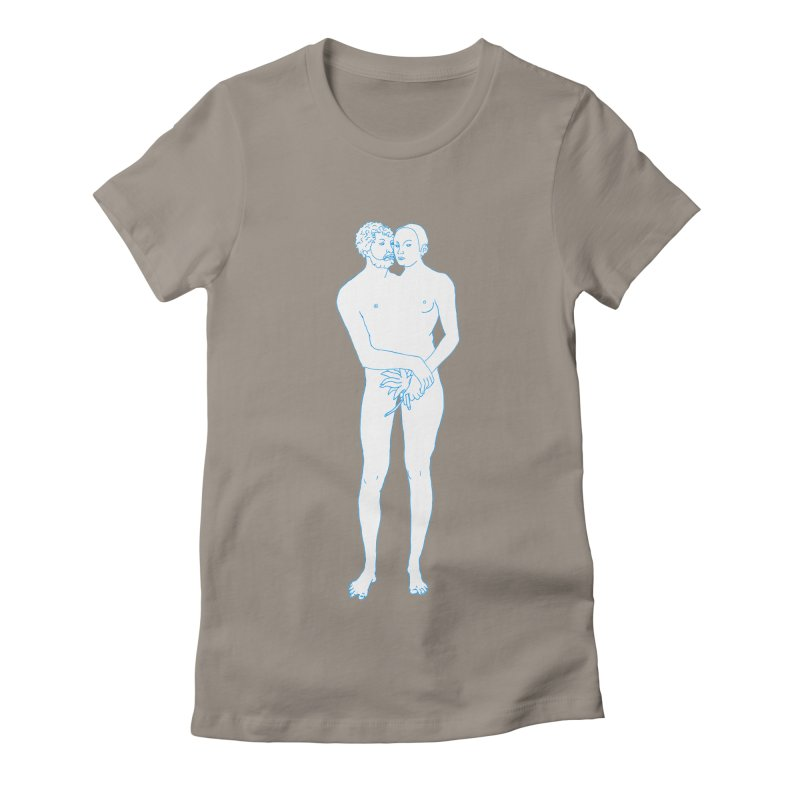 two in one Women's Fitted T-Shirt by mikbulp's Artist Shop