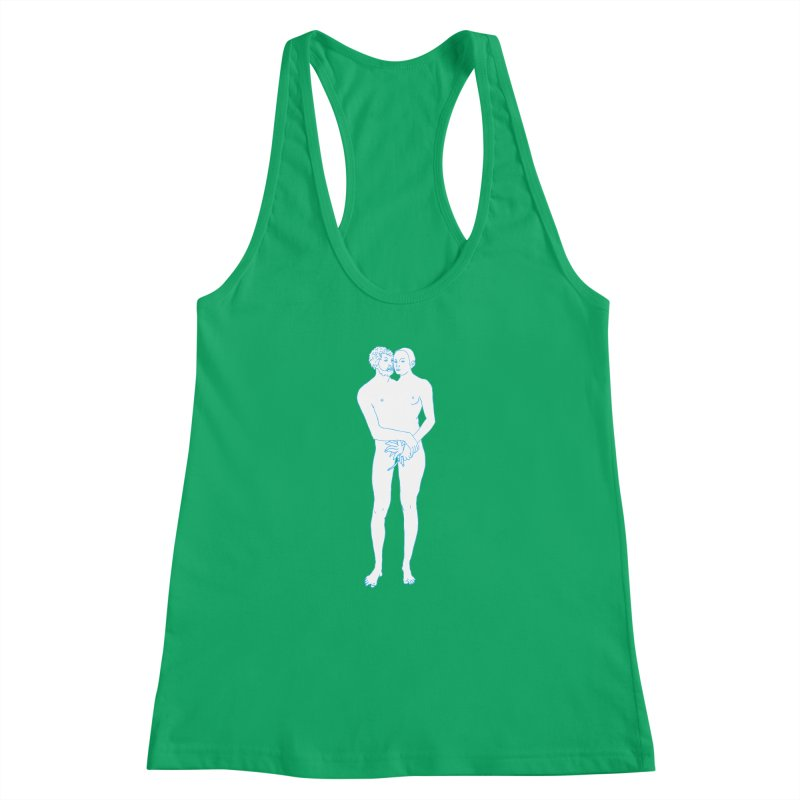 two in one Women's Racerback Tank by mikbulp's Artist Shop