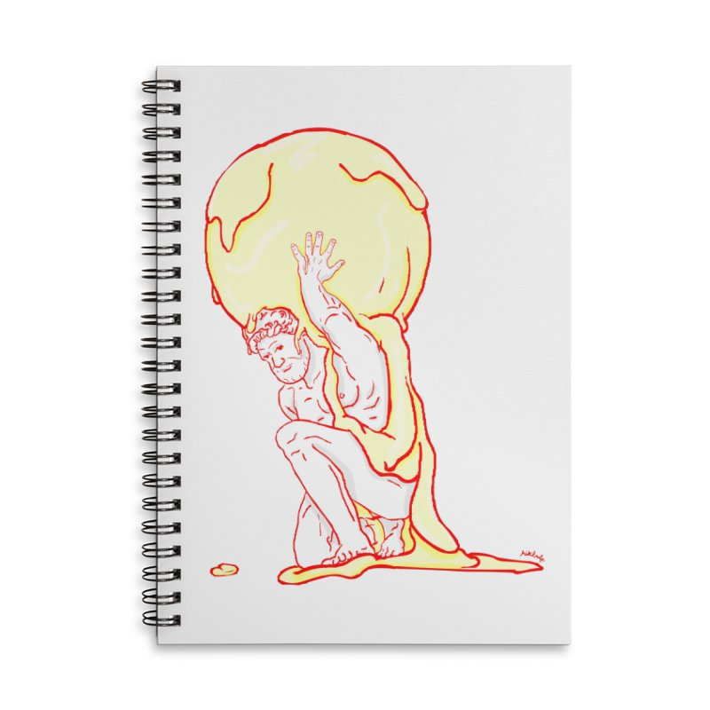 Mr Gelato Accessories Lined Spiral Notebook by mikbulp's Artist Shop