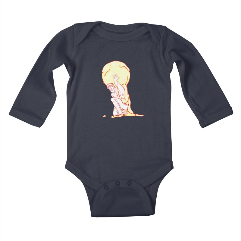Mr Gelato Kids Baby Longsleeve Bodysuit by mikbulp's Artist Shop