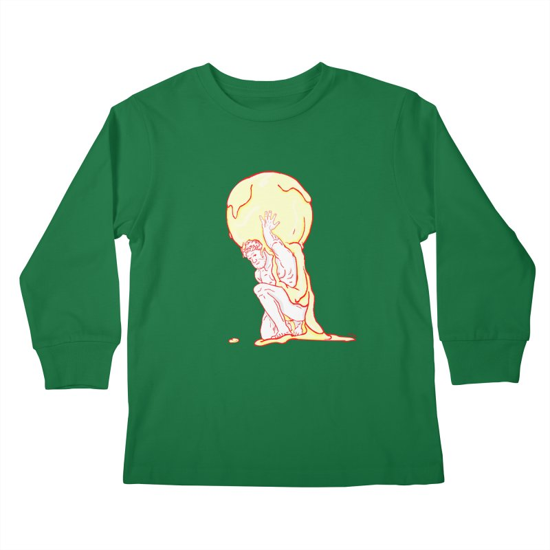 Mr Gelato Kids Longsleeve T-Shirt by mikbulp's Artist Shop