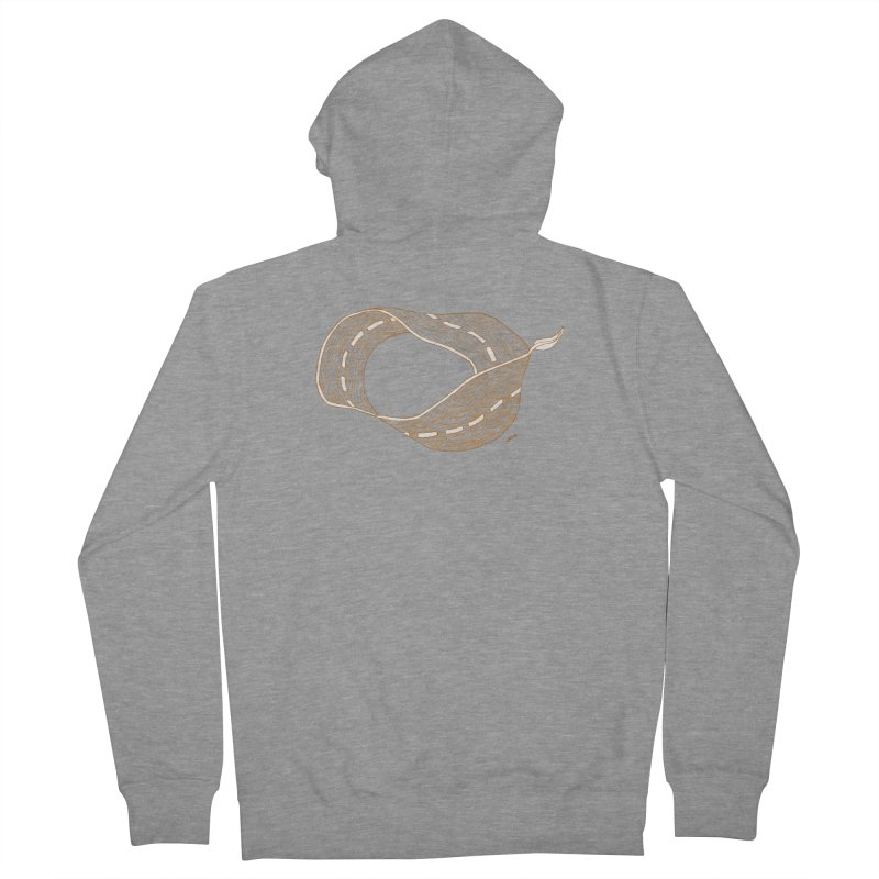 wooden road Men's French Terry Zip-Up Hoody by mikbulp's Artist Shop