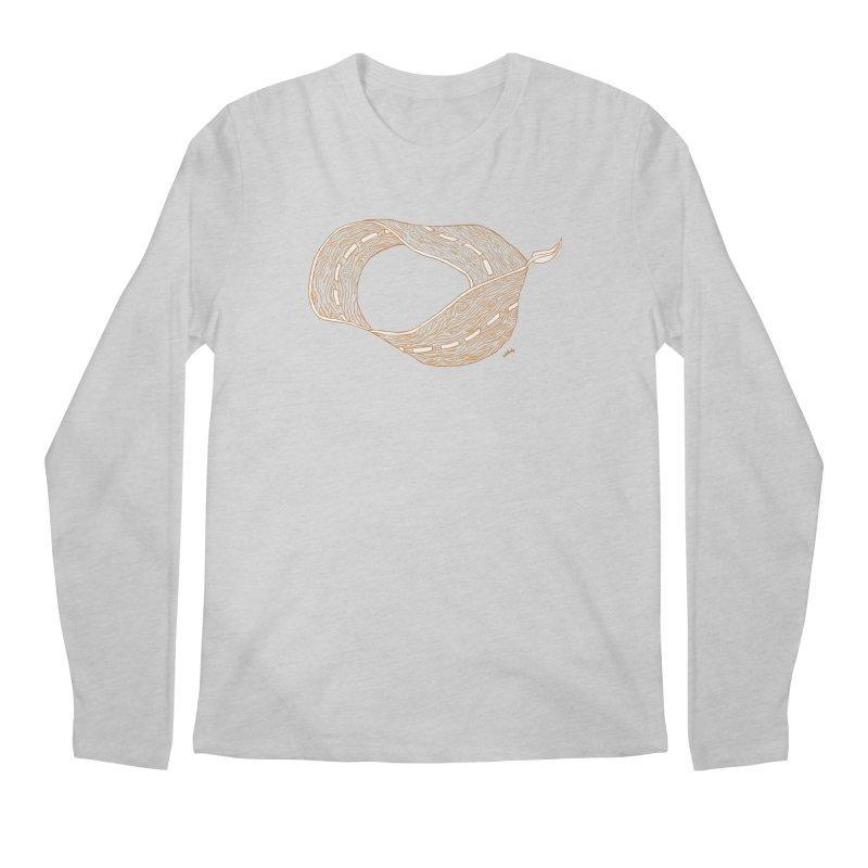 wooden road Men's Regular Longsleeve T-Shirt by mikbulp's Artist Shop