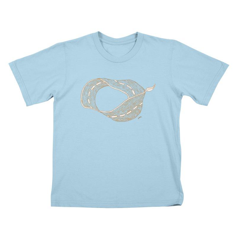 wooden road Kids T-Shirt by mikbulp's Artist Shop