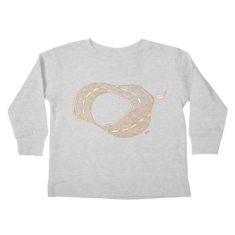 wooden road Kids Toddler Longsleeve T-Shirt by mikbulp's Artist Shop