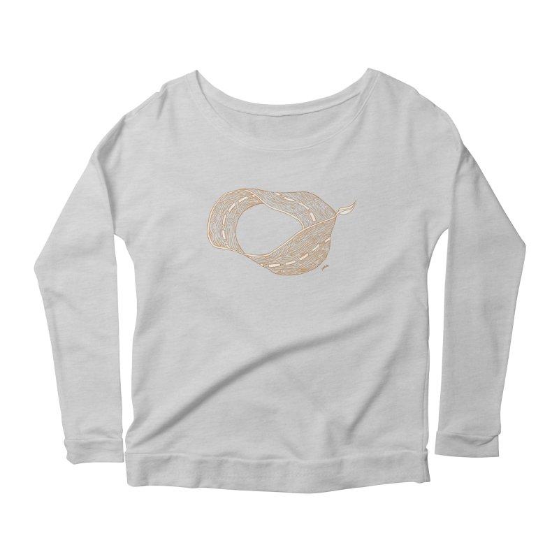 wooden road Women's Scoop Neck Longsleeve T-Shirt by mikbulp's Artist Shop