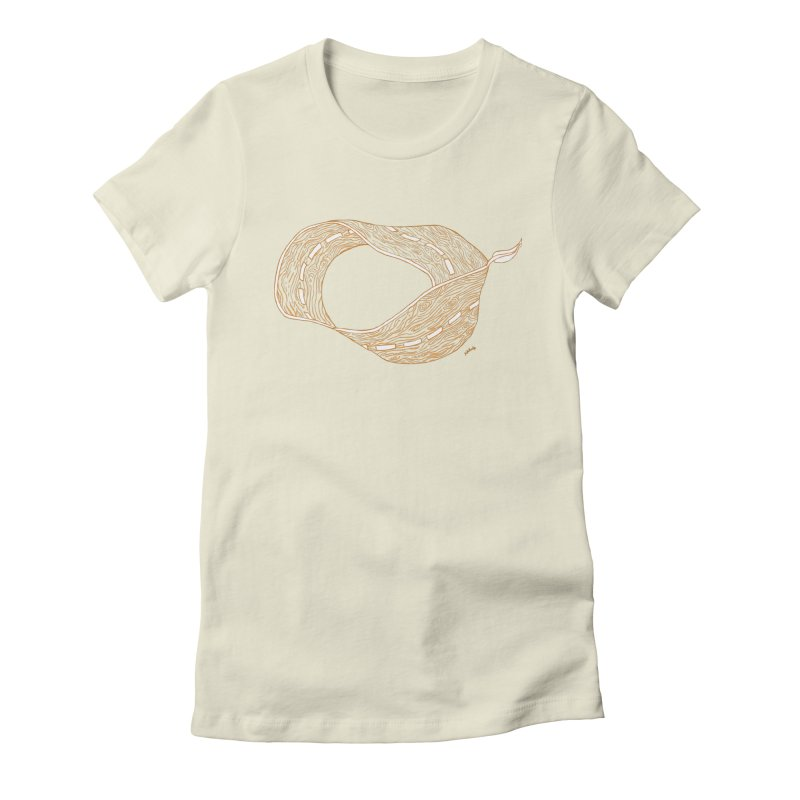 wooden road Women's Fitted T-Shirt by mikbulp's Artist Shop