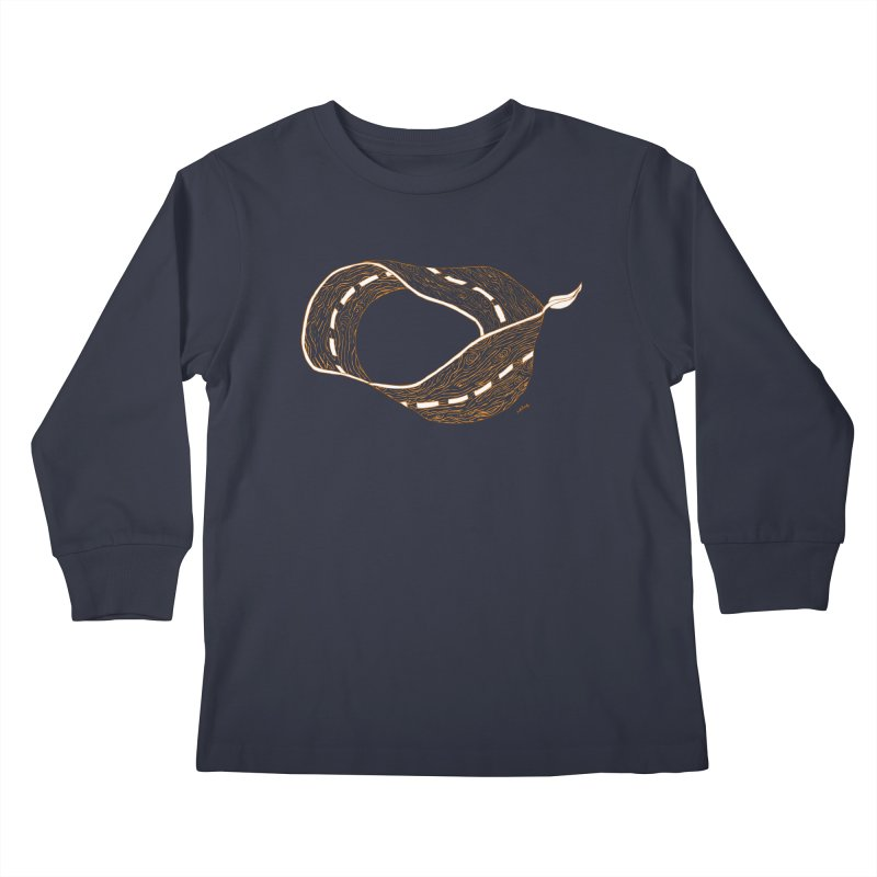 wooden road Kids Longsleeve T-Shirt by mikbulp's Artist Shop