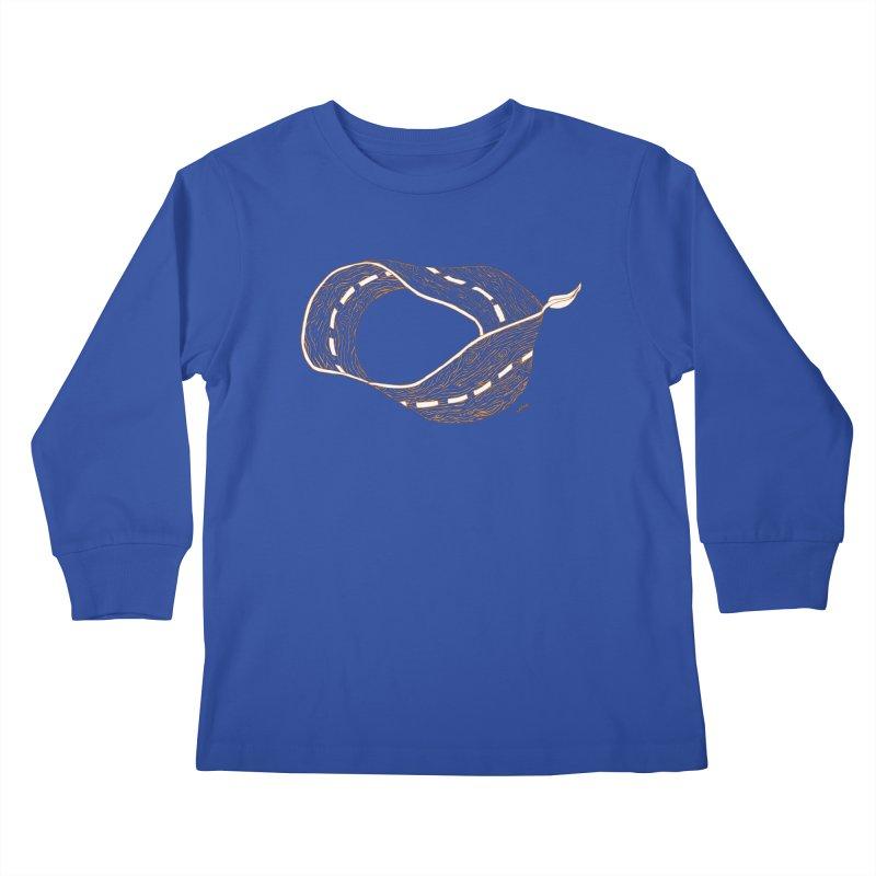wooden road Kids Longsleeve T-Shirt by mikbulp's Artist Shop