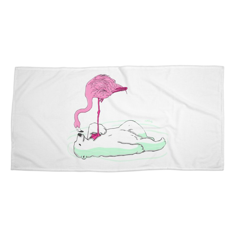 making friends Accessories Beach Towel by mikbulp's Artist Shop
