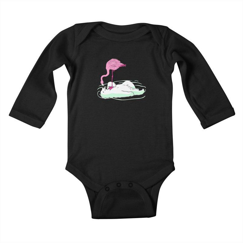 making friends Kids Baby Longsleeve Bodysuit by mikbulp's Artist Shop