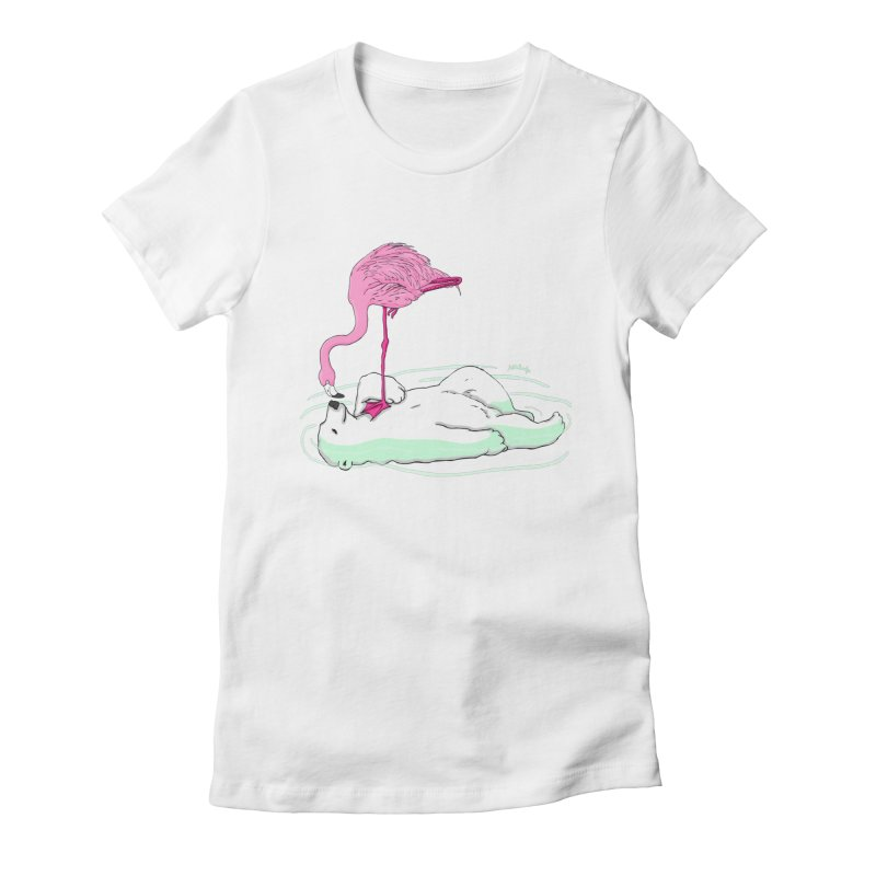 making friends Women's Fitted T-Shirt by mikbulp's Artist Shop