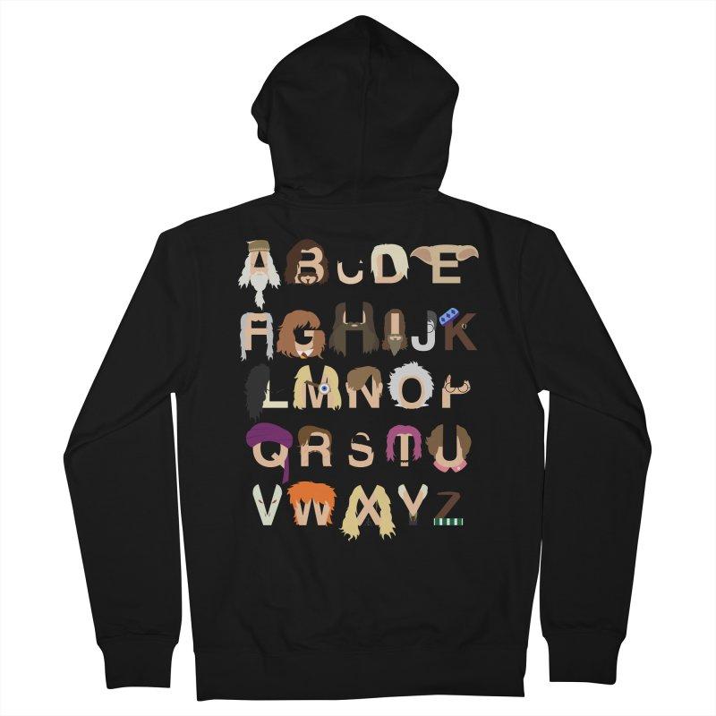 Harry Potter Alphabet Men's Zip-Up Hoody by Mike Baboon Design