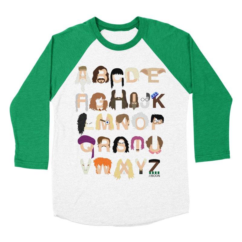 Harry Potter Alphabet Women's Baseball Triblend T-Shirt by Mike Baboon Design