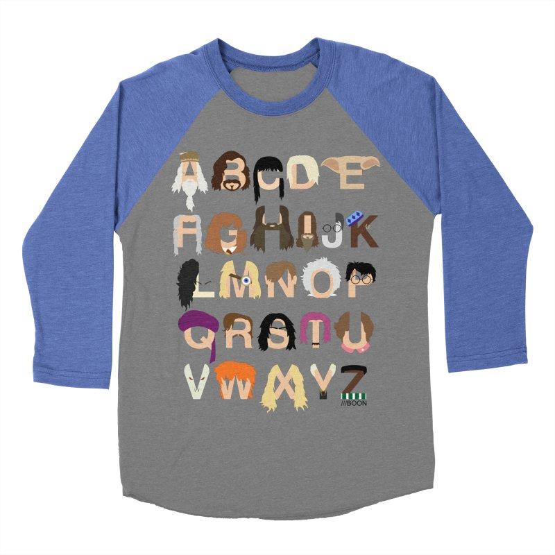 Harry Potter Alphabet Men's Baseball Triblend T-Shirt by Mike Baboon Design