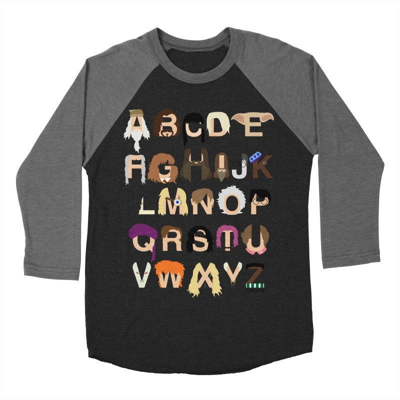 Harry Potter Alphabet Men's Baseball Triblend T-Shirt by Mike Baboon Design