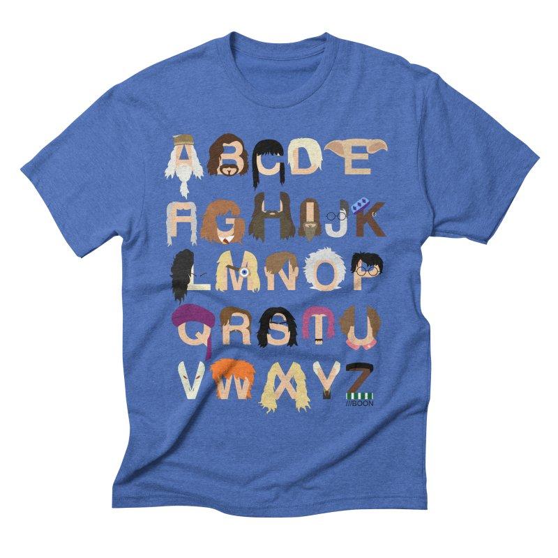 Harry Potter Alphabet Men's Triblend T-shirt by Mike Baboon Design