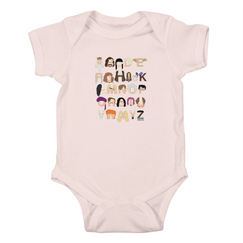 Harry Potter Alphabet Kids Baby Bodysuit by Mike Baboon Design