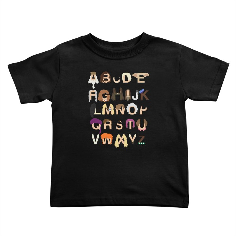 Harry Potter Alphabet Kids Toddler T-Shirt by Mike Baboon Design