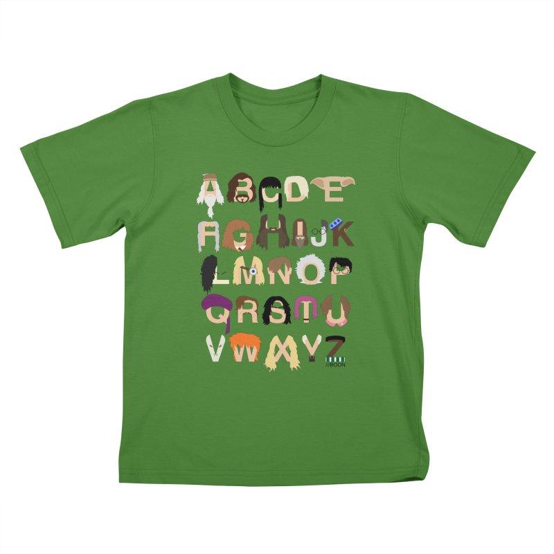 Harry Potter Alphabet Kids T-Shirt by Mike Baboon Design