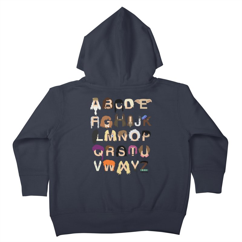 Harry Potter Alphabet Kids Toddler Zip-Up Hoody by Mike Baboon Design