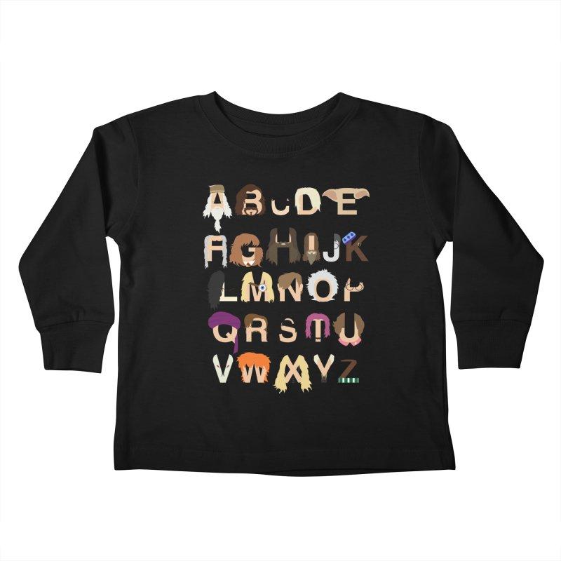 Harry Potter Alphabet Kids Toddler Longsleeve T-Shirt by Mike Baboon Design