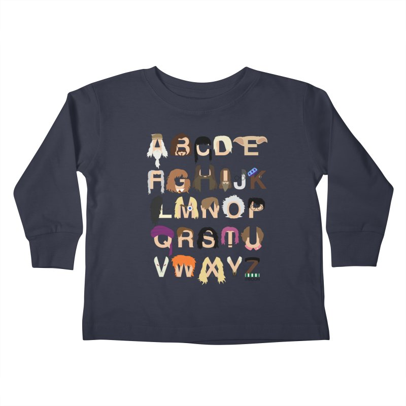 Harry Potter Alphabet Kids Toddler Longsleeve T-Shirt by Mike Baboon Design