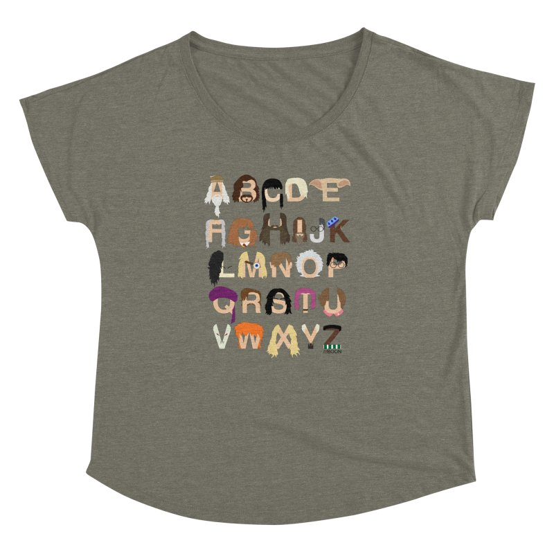 Harry Potter Alphabet Women's Dolman by Mike Baboon Design