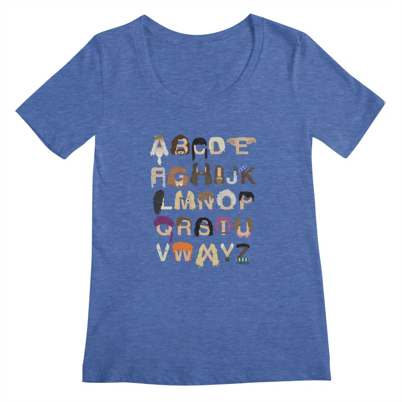 Harry Potter Alphabet Women's Scoopneck by Mike Baboon Design