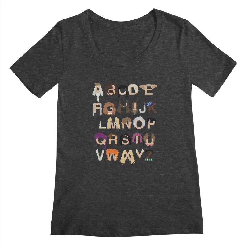Harry Potter Alphabet Women's Scoopneck by Mike Baboon Design